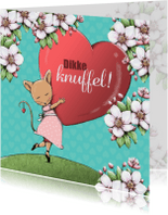 Sterkte kaarten - Sterkte met dikke knuffel! - IH