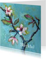 Sterkte kaarten - Sterktekaart, Bloesem schilderij