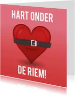 Wenskaarten divers - sterktekaart hart onder riem ME