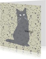 Condoleancekaarten - Sterktekaart voor verlies of ziekte van een poes