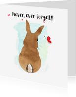 "Sterkte kaarten - ""Sterktekaartje Bunny it's going to be okay - SD"""