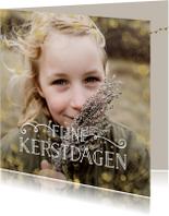 Kerstkaarten - Stijlvolle kerstkaart met grote foto en gouden confetti