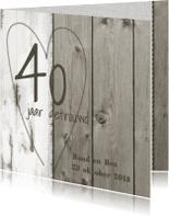 Jubileumkaarten - Stoer jubileumkaart hout zelf maken