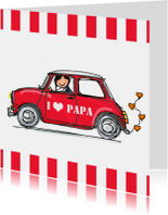 Vaderdag kaarten - Stoere auto met hart vaderdag