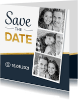 Trouwkaarten - Stoere en strakke Save the Date