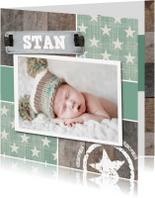Geboortekaartjes - Stoere foto geboortekaart