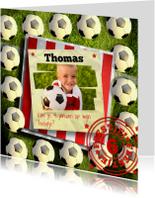 Kinderfeestjes - Stoere voetbal uitnodiging