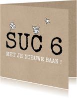 Felicitatiekaarten - Suc 6 kaart met uil en ster