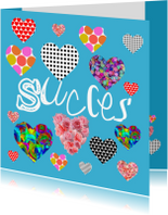 Succes kaarten - Succes Hartjes