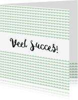 Succes kaarten - Succes kaartje mint - WW