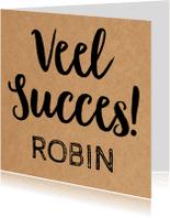 Succes kaarten - Succes Letters en kraft