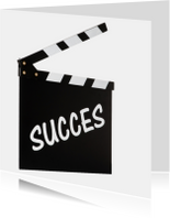 SUCCES op filmklapper