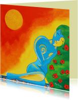 Kunstkaarten - Sunkissed Woman