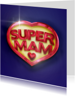 Moederdag kaarten - Super-mam