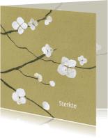 Condoleancekaarten - Tak met bloem