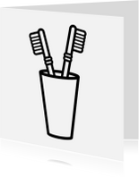 Verhuiskaarten - Tandenborstels Samenwonen kaart