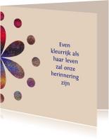 Condoleancekaarten - Ter herinnering - kleurrijk