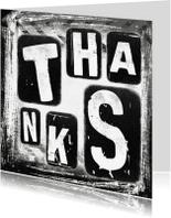 Bedankkaartjes - Thanks grunge - SG