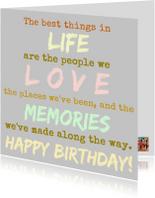Verjaardagskaarten - The best things in life