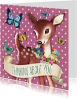 Zomaar kaarten - thinking about you hertje