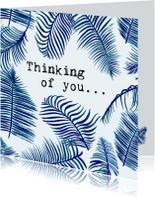 Condoleancekaarten - THINKING OF YOU - Bladeren