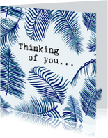 Condoleancekaarten - THINKING OF YOU - Bladeren