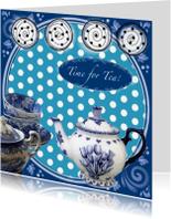 Uitnodigingen - Time for Tea Delfs blauw