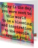 Verjaardagskaarten - To be a blessing and inspiration