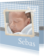 Geboortekaartjes - Traditioneel Polaroid zoon 1LS3