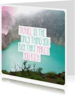 Vakantiekaarten - Travel engels vakantie kaartje