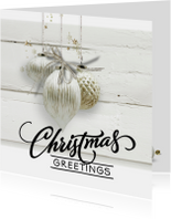 Zakelijke kerstkaarten - Trendy kerstkaart houtprint - SG