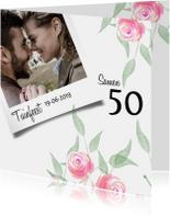 Uitnodigingen - Trendy uitnodiging voor een tuinfeest met roosjes