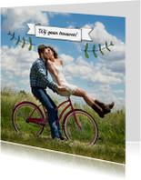 Trouwkaarten - Trouwen banner foto takjes - HR
