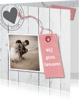 Trouwkaarten - Trouwkaart Bas en Iris