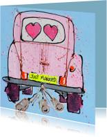 Trouwkaarten - Trouwkaart met auto