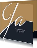 Trouwkaarten - Trouwkaart Typografie en foto