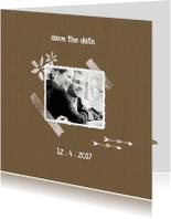 Trouwkaarten - Trouwkaarten Kraftpapier 2