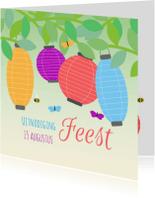 Uitnodigingen - Tuinfeest lampion 1