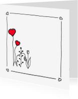 Liefde kaarten - Tulp-en-liefde 1