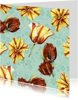 Bloemenkaarten - tulpenkaart zonder tekst