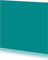 Blanco kaarten - Turquoise enkel vierkant