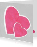 Moederdag kaarten - Twee harten