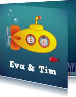 Geboortekaartjes - Tweeling onderzeeboot M/J