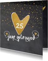 Jubileumkaarten - Uitnodiging 25 getrouwd - LO