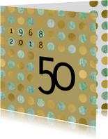 Uitnodigingen - uitnodiging 50 gouden sterren