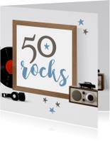 Uitnodigingen - Uitnodiging 50 rocks