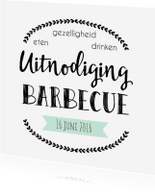 Uitnodigingen - Uitnodiging Barbecue - WW