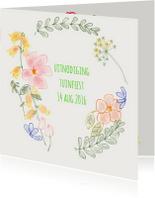 Uitnodigingen - Uitnodiging Bloemenkrans