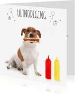 Kinderfeestjes - Uitnodiging - Boris met Hot Dog