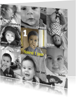 Kinderfeestjes - Uitnodiging collage 1 jaar
